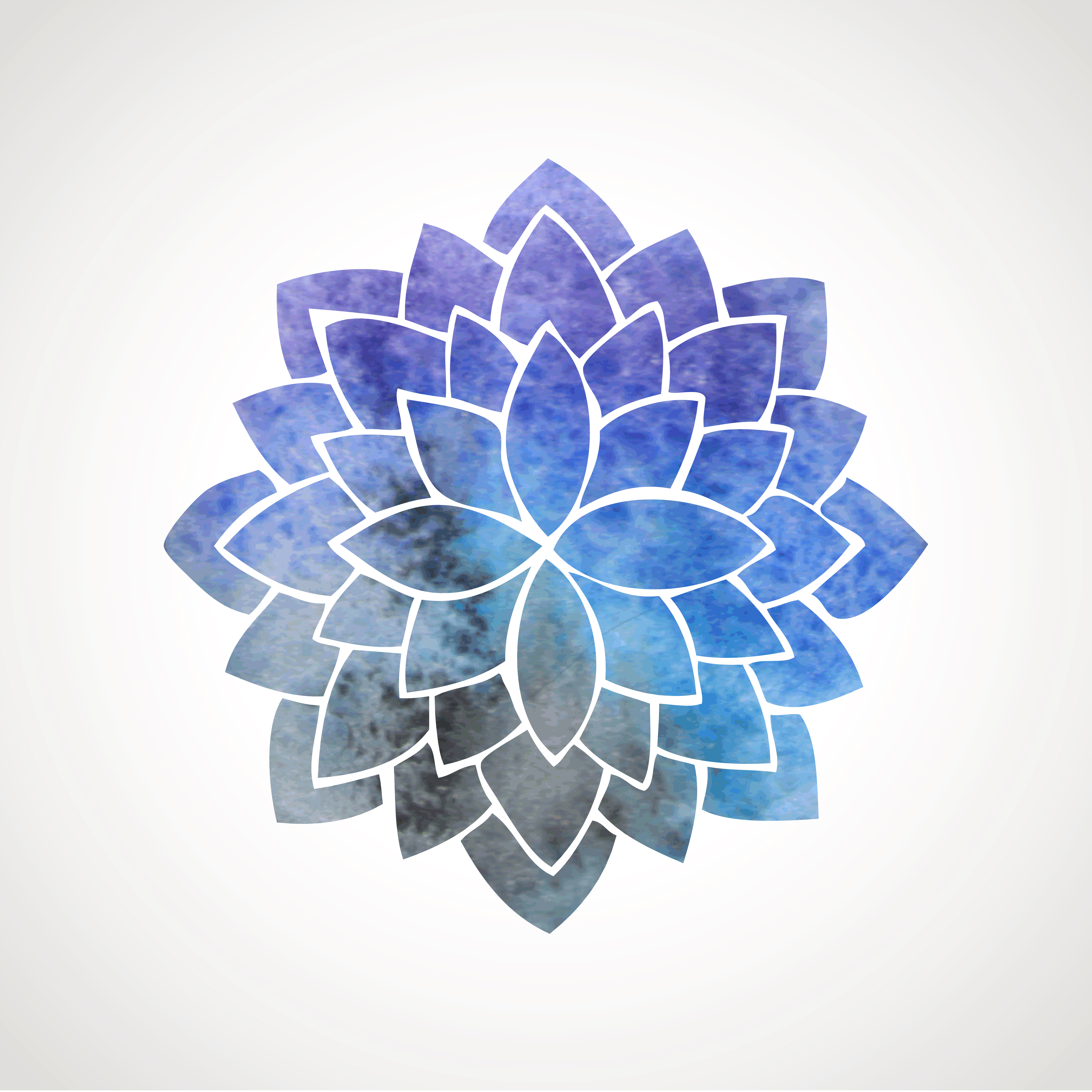 Watercolor Lotus Flower With Space Background Guru Circus